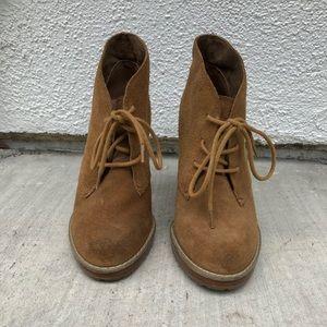 Suede women's booties